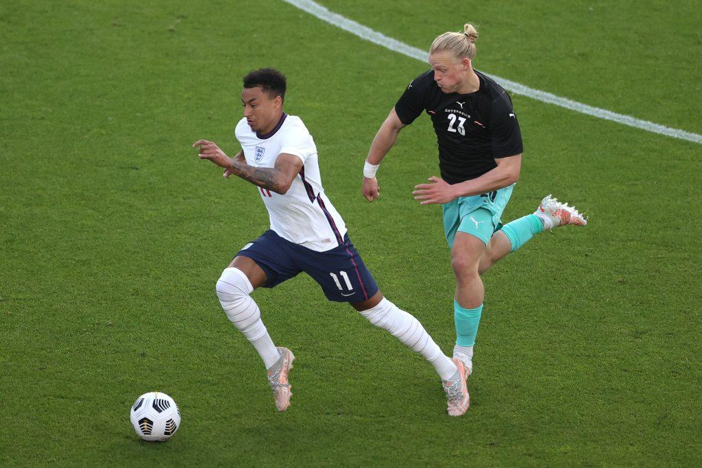 Джесси Лингард в матче Англии против Австрии